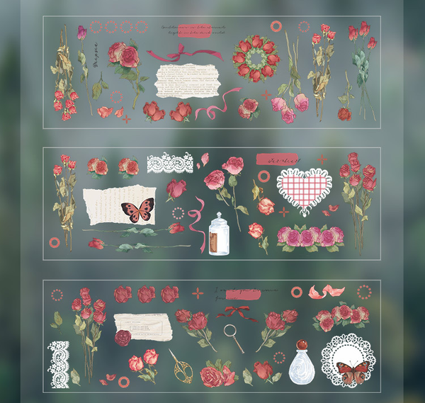 Flower Plants Series Stickers