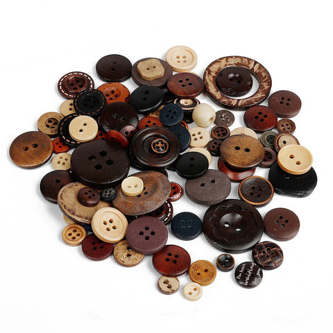 100pcs Resin Mixed Buttons