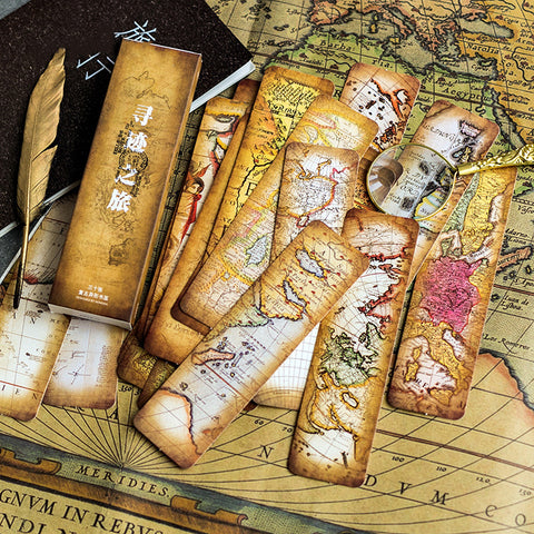 30pcs Tracing Journey Paper Bookmark