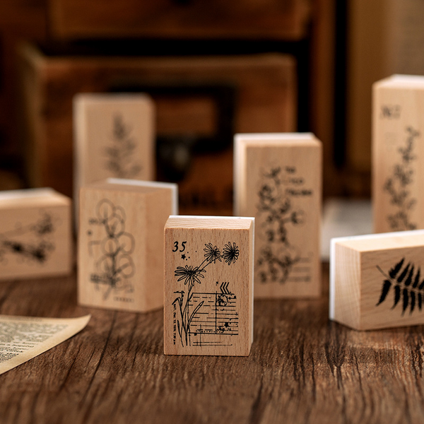 Plant Series Wooden Stamp