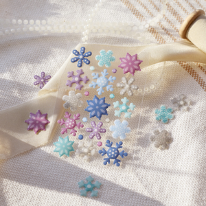 Snowflake Enamel Paste Decorative Stikers