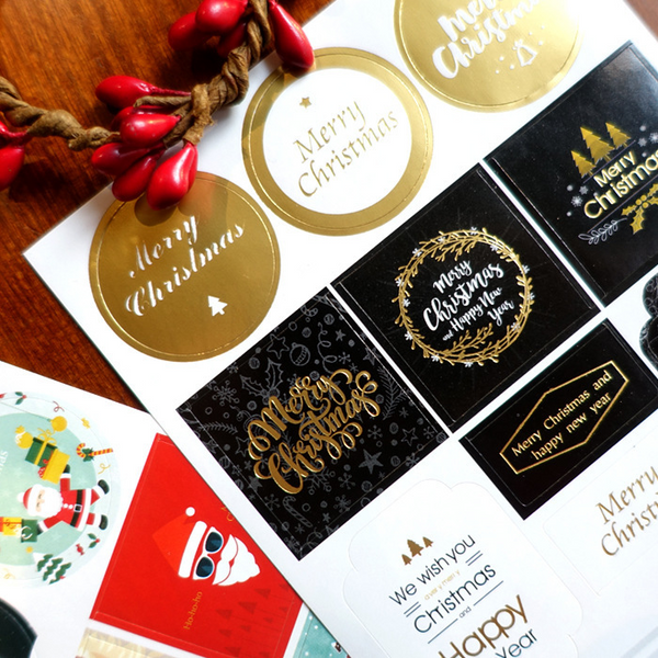 Gold Christmas Hot Stamping Stickers