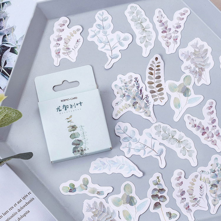 45PCS Eucalyptus Leaves Decorative Stickers