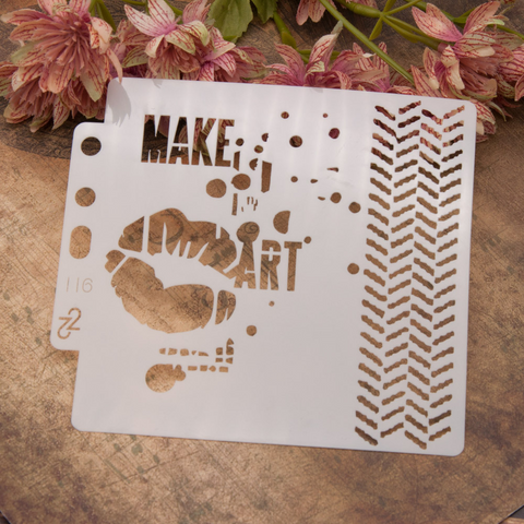 Make Art Layering Stencils Painting Template