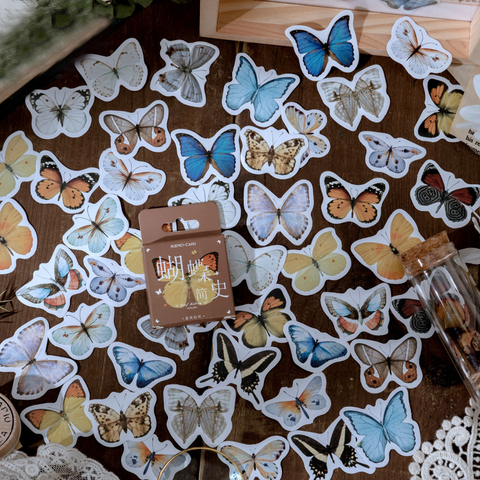 46PCS Butterfly Series Decorative Stickers