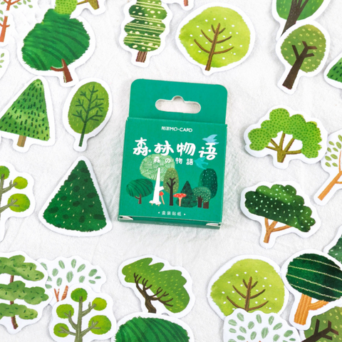 45PCS Cute Forest Tale Decorative Stickers