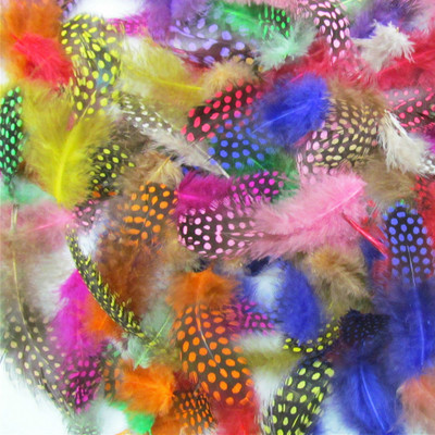 50PCS Artificial Guinea Fowl Feather