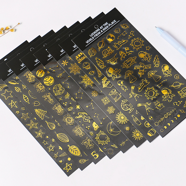 See the World from Above Series Hot Stamping Stickers