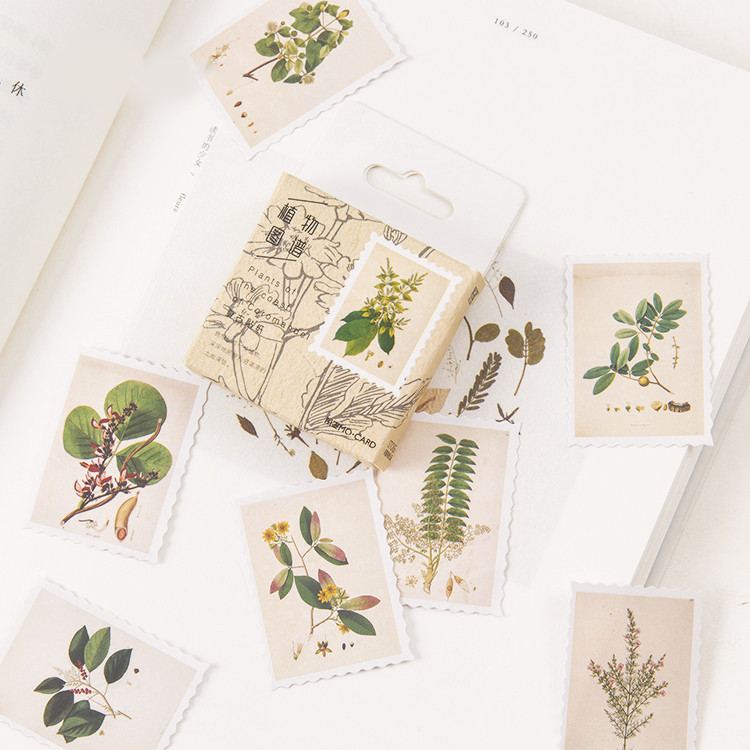 45PCS Plant System Decorative Stickers