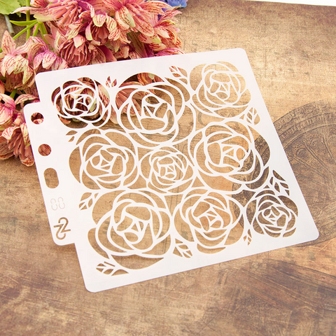 Rose Layering Stencils Painting Template