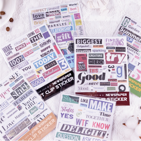 Creative Text Series Stickers