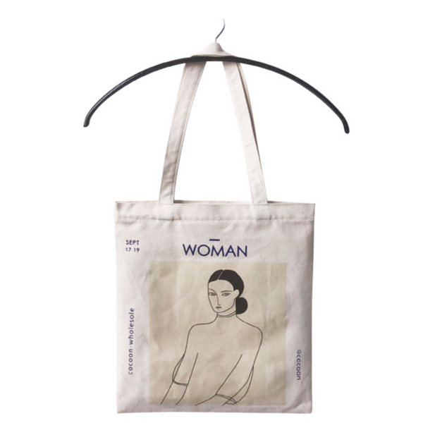 Retro Woman Simple Canvas Bag Shopping Bag
