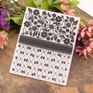 Flowers and Butterflies EMBOSSING FOLDER
