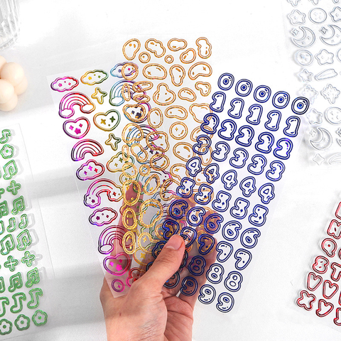 Colourful Jelly Bean Series Hot Stamping Stickers
