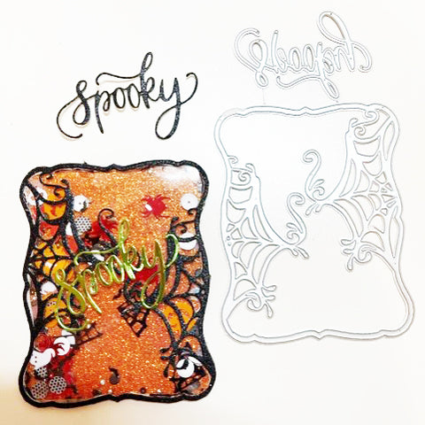 【Original】Halloween Square Spider Web Dies