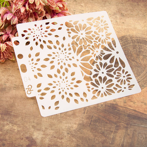 Flower Layering Stencils Painting Template