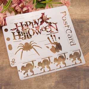 Happy Halloween Layering Stencils Painting Template