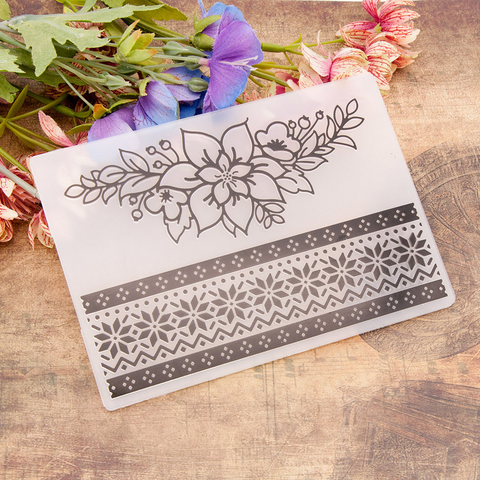 Flower Lace Border EMBOSSING FOLDER