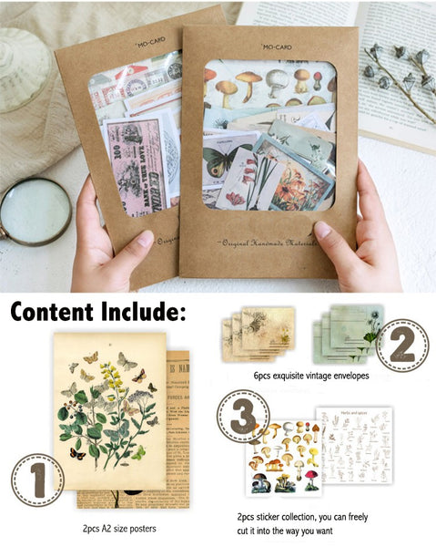 36pcs Large Size Scrapbook Material Package