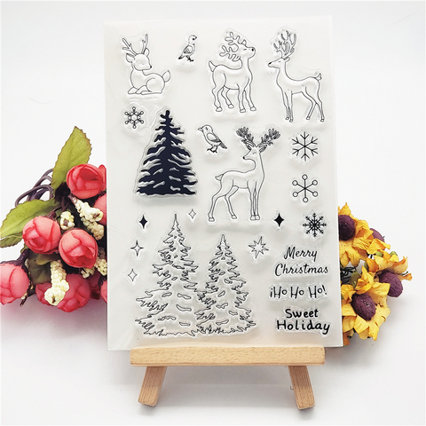 Christmas Deer Stamps