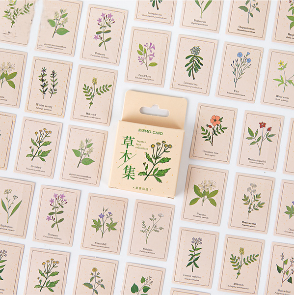 46PCS Herb Collection Decorative Stickers
