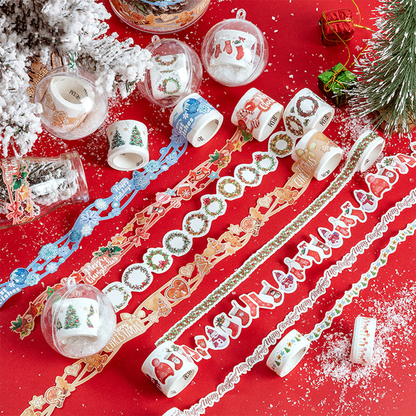 Colorful Christmas Party Lace Paper Tape