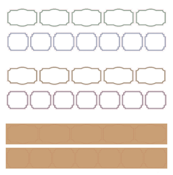 Retro Frame Illustrated Series Paper Tape