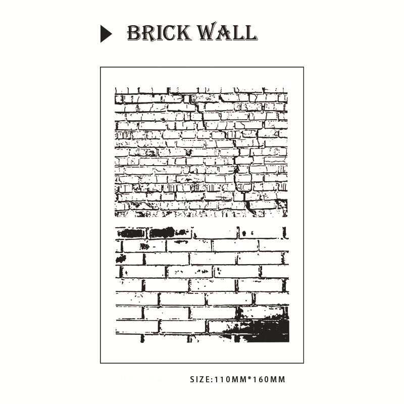 Creative Brick Wall Background Stamp