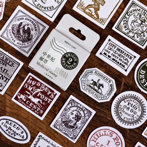 45 Pcs Medieval Stamp Stickers