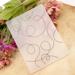 Dotted Line Embossing Plastic Plates