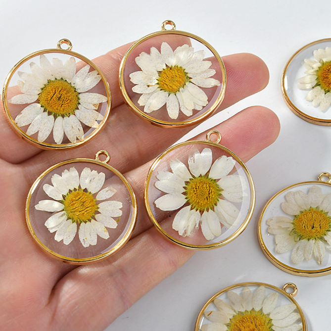 Daisy Sunflower Alloy Pendant Accessories