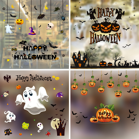 Colorful Static Stickers Halloween Decorative Supplies