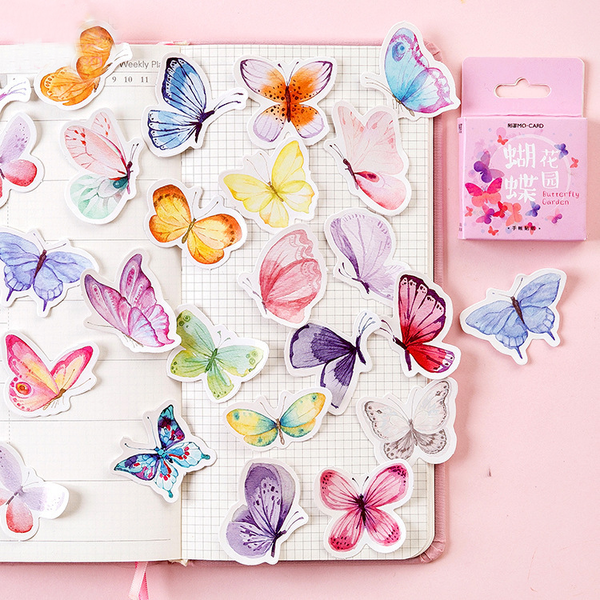 45PCS Butterfly Garden Decorative Stickers