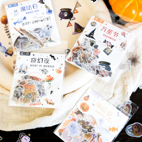 40PCS Fantasy Halloween Sticker Bag