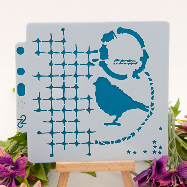 Bird Layering Stencils Painting Template