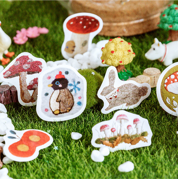 46PCS Felt Craft House Decorative Stickers