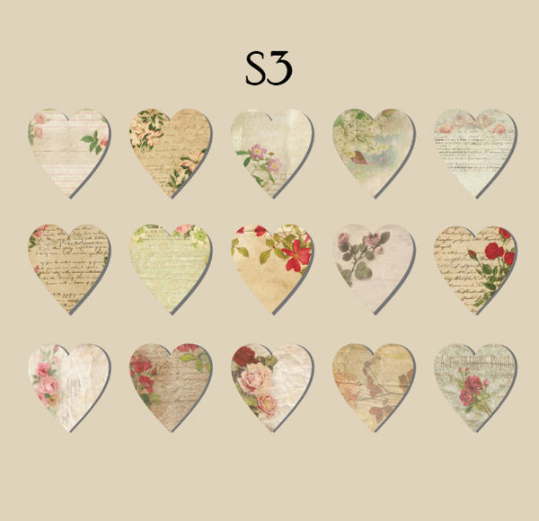 45PCS Vintage Special Shape Stickers
