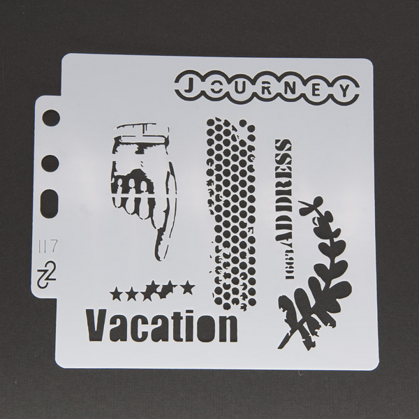 Vacation Layering Stencils Painting Template