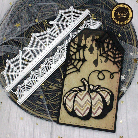 【Original】Halloween Spider Web Border Dies
