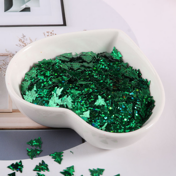 Snowflakes Christmas Tree Glitter Sequins