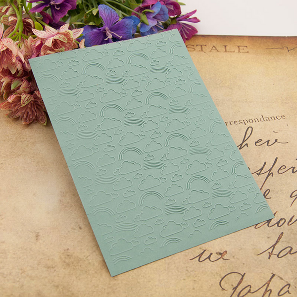 Clouds and Rainbows EMBOSSING FOLDER