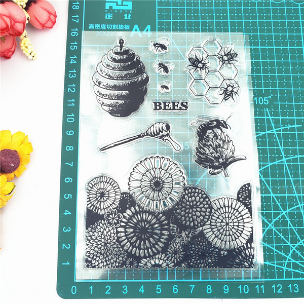 Sunflower Beehive Stamps