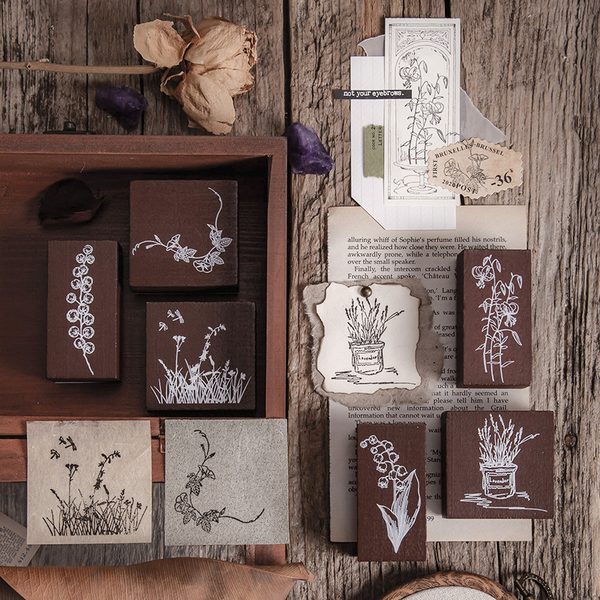 Blossom Half Summer Series Wooden Stamp