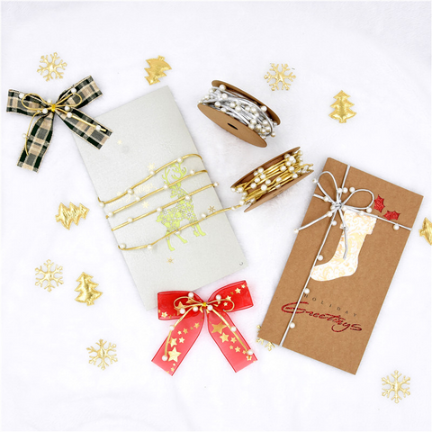 Pearl Ribbon Gift Holiday Decorative Ribbon