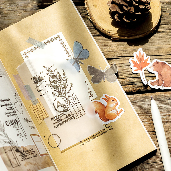 45PCS Autumn Forest Decorative Stickers