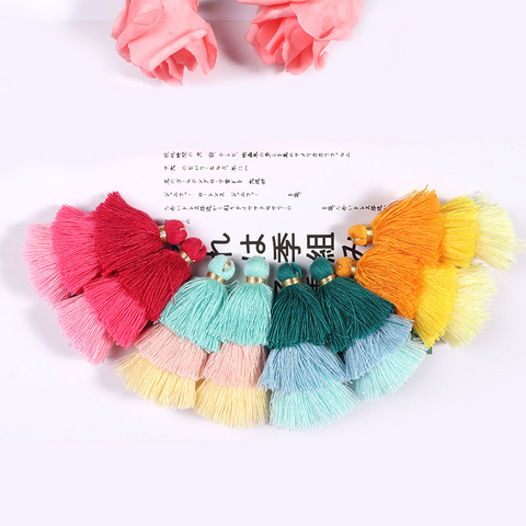 5pcs 6CM Gradient Color Tassel
