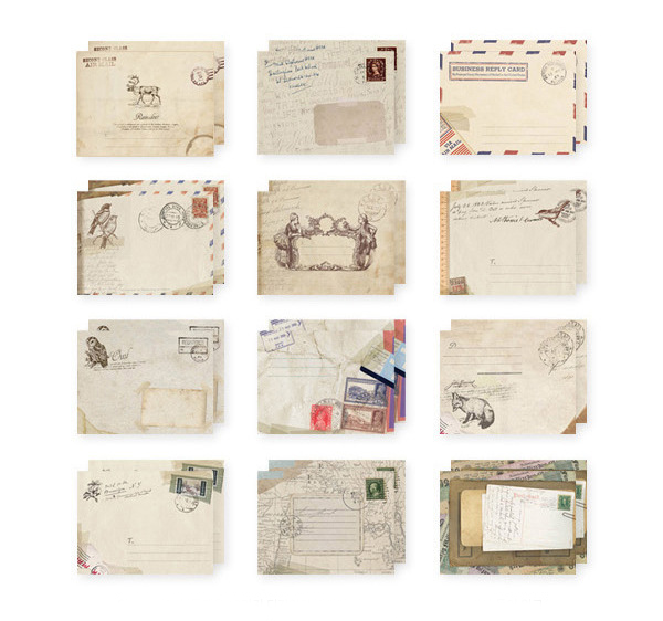 12PCS Retro Ancient Mini Envelopes