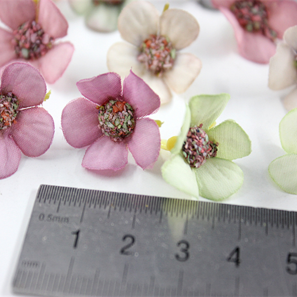 10 Pcs Artificial Color Flowers