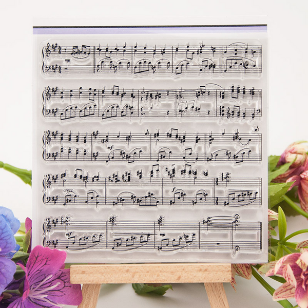 Sheet Music Background Stamps