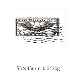 Retro Simple Antique Postmark Wooden Seal